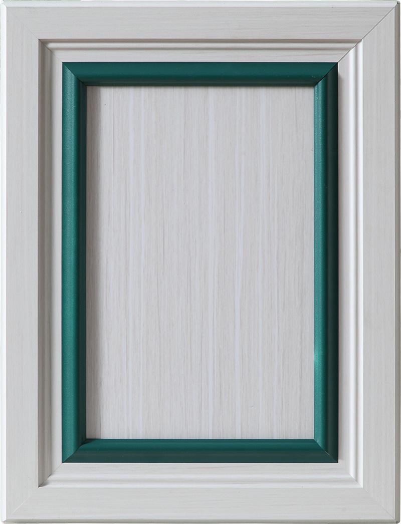 全铝欧式门45框+深绿转换条